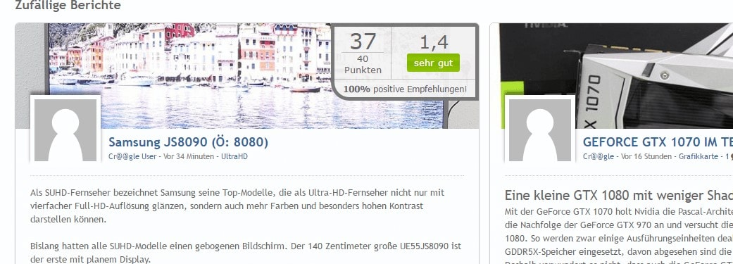 EasyRating: Beta-Test startet